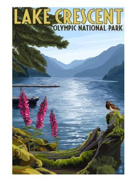 Olympic National Park, Washington - Lake Crescent by Lantern Press