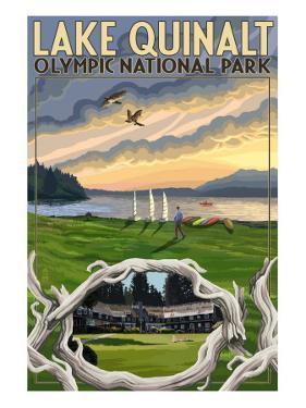 Olympic National Park, Washington - Lake Quinalt by Lantern Press
