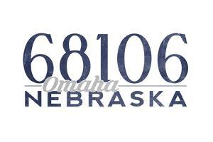 Omaha, Nebraska - 68106 Zip Code (Blue) by Lantern Press