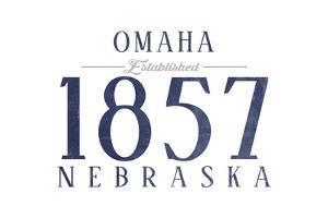 Omaha, Nebraska - Established Date (Blue) by Lantern Press