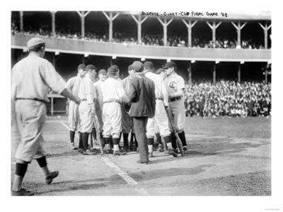 On-Field Dispute, Chicago Cubs vs. NY Giants, Baseball Photo - New York, NY by Lantern Press