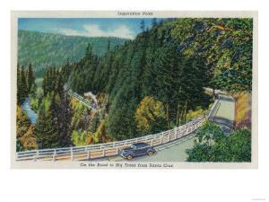 On the Road to Big Trees from Santa Cruz - Santa Cruz County, CA by Lantern Press