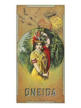 Oneida Brand Tobacco Label by Lantern Press