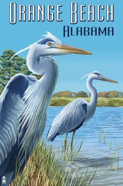 Orange Beach, Alabama - Blue Heron by Lantern Press