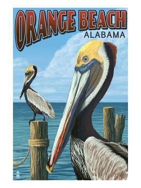 Orange Beach, Alabama - Brown Pelican by Lantern Press