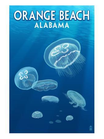 Orange Beach, Alabama - Jellyfish Scene by Lantern Press