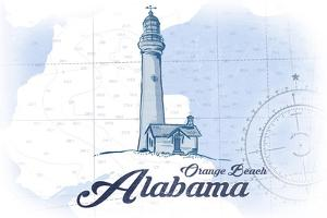 Orange Beach, Alabama - Lighthouse - Blue - Coastal Icon by Lantern Press