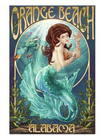 Orange Beach, Alabama - Mermaid