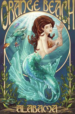 Orange Beach, Alabama - Mermaid by Lantern Press