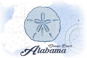 Orange Beach, Alabama - Sand Dollar - Blue - Coastal Icon by Lantern Press