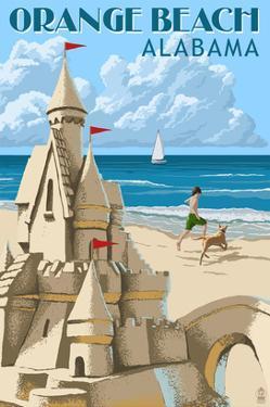 Orange Beach, Alabama - Sandcastle by Lantern Press