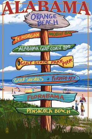 Orange Beach, Alabama - Sign Destinations