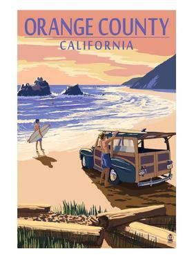 Orange County, California - Woody on Beach by Lantern Press