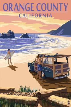 Orange County, California - Woody on Beach by Lantern Press