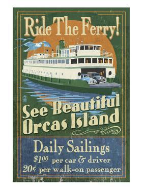 Orcas Island, Washington - Ferry Ride by Lantern Press