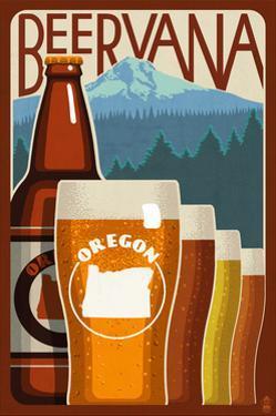 Oregon - Beervana by Lantern Press