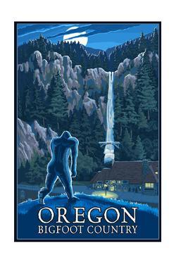 Oregon Bigfoot Country and Multnomah Falls by Lantern Press