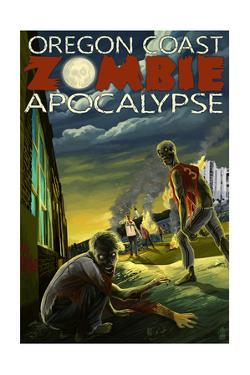Oregon Coast - Zombie Apocalypse by Lantern Press