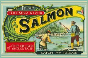 Oregon - Columbia River - the Oregon Historical Society Salmon Label by Lantern Press