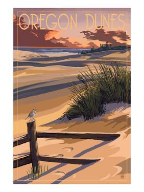 Oregon Dunes on the Oregon Coast by Lantern Press