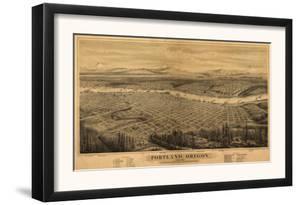 Oregon - Map of Portland by Lantern Press