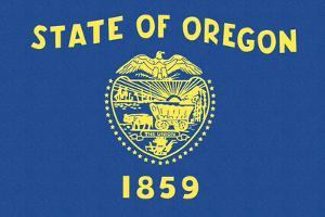 Oregon State Flag by Lantern Press