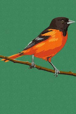 Oriole and Branch by Lantern Press