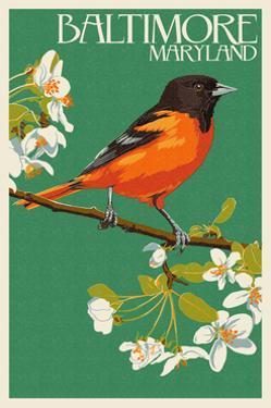 Oriole - Baltimore, MD by Lantern Press