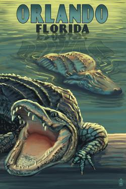 Orlando, Florida - Alligators by Lantern Press