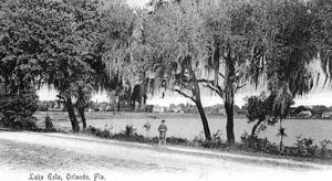 Orlando, Florida - Lake Eola View by Lantern Press