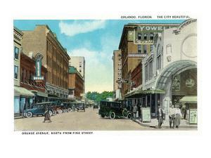 Orlando, Florida - Orange Avenue North from Pine Street by Lantern Press