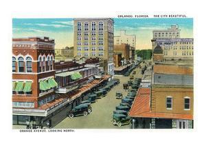 Orlando, Florida - Orange Avenue North Scene by Lantern Press