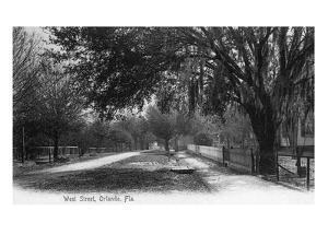 Orlando, Florida - View Down West Street by Lantern Press