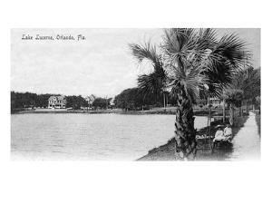 Orlando, Florida - View of Lake Lucerne from Shore by Lantern Press