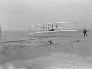 Orville Wright on First Flight at 120 feet Photograph - Kitty Hawk, NC by Lantern Press