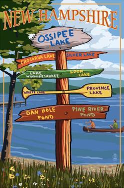 Ossipee Lake, New Hampshire - Canoe Scene by Lantern Press