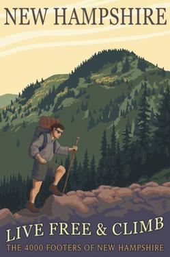 Ossipee Lake, New Hampshire - Live Free and Climb by Lantern Press