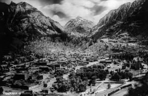 Ouray, Colorado - Panoramic View of Town, Mt Abram by Lantern Press
