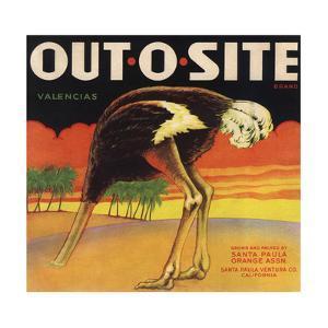 Out O Site Brand - Santa Paula, California - Citrus Crate Label by Lantern Press