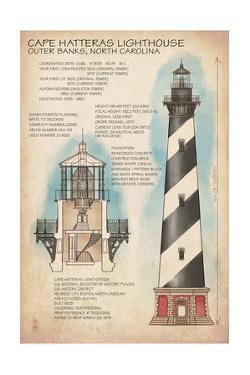 Outer Banks, North Carolina - Cape Hatteras Lighthouse Technical by Lantern Press