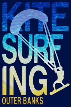 Outer Banks, North Carolina - Kite Surfing Silhouette by Lantern Press