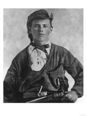 Outlaw Jesse James Portrait Photograph by Lantern Press