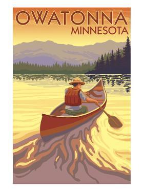 Owatonna, Minnesota - Canoe Scene by Lantern Press