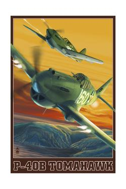 P-40B Tomahawks by Lantern Press