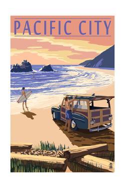 Pacific City, Oregon - Woody on Beach by Lantern Press