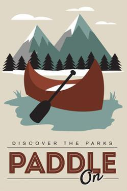 Paddle on (Canoe) - Discover the Parks by Lantern Press