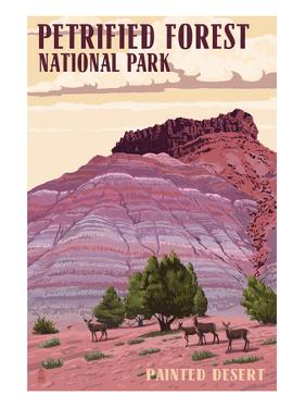 Painted Desert - Petrified Forest National Park by Lantern Press