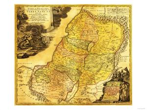 Palestine - Panoramic Map by Lantern Press