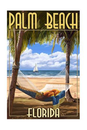 Palm Beach, Florida - Palms and Hammock by Lantern Press