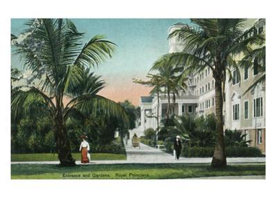 Palm Beach, Florida - Royal Poinciana Entrance and Grounds View